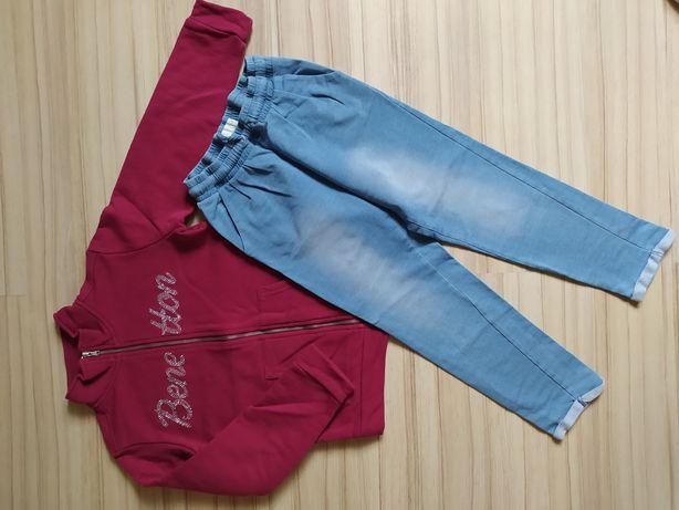 Zestaw dresowy spodnie i bluza 122 128 Benneton Smyk Cool Club
