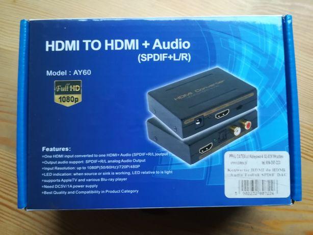 Konwerter HDMI do HDMI + Audio