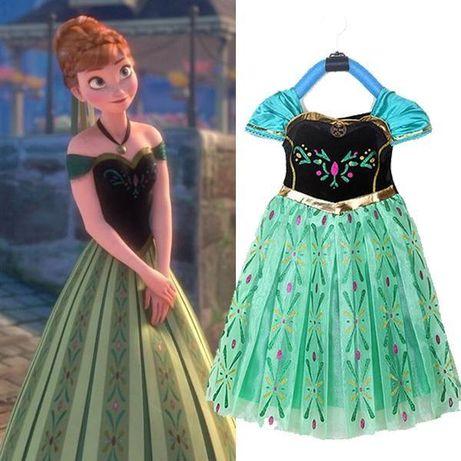 FROZEN - Fantasia Vestido Princesa Ana - NOVO c/ Etiqueta - 4 a 6 anos