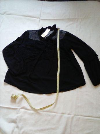 Czarna bluzka z koronka rozmiar M