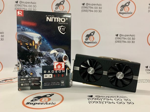 Гарантия! Видеокарты Sapphire Nitro+ RX 570 4 Gb. Состояние 5+!