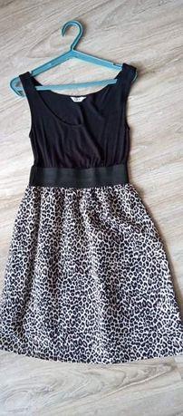 Sukienka czarna w panterkę rozm XS