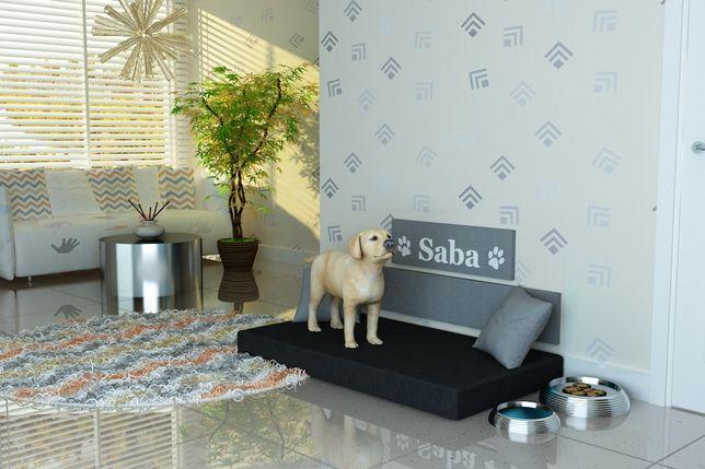 """Legowisko dla psa,psie legowisko-producent-""""SABA"""" IMIĘ PSA- tkanina 05"""