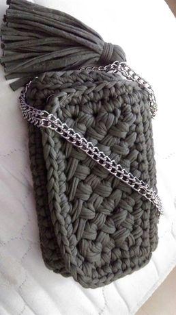 Oryginalna Torebka handmade pleciona