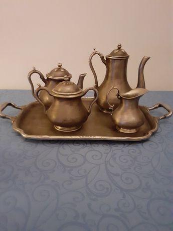 Serviço completo  chá e cafe em estanho