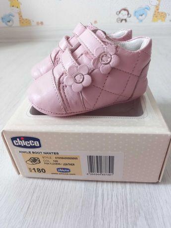 Кожаные пинетки, ботиночки Chicco 11,5 см., 18 размер