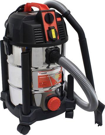 Aspirador sólidos e líquidos inox 30 litros 1600 W c/ tomada exterior