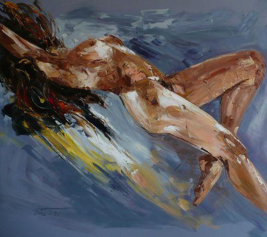 Akt - Dorota Łaz - olej o wym: 80x70 cm