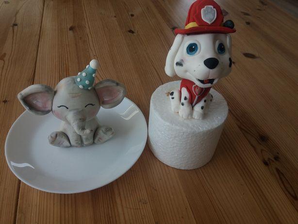 Figurki z masy cukrowej na tort