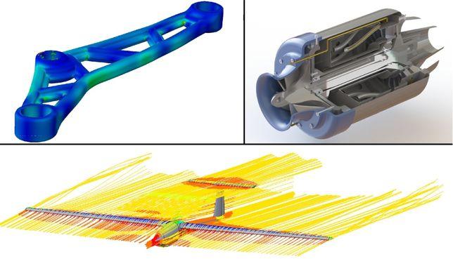 Projektowanie 3D Zadania Projekty Obliczenia PKM Modelowanie MES CFD