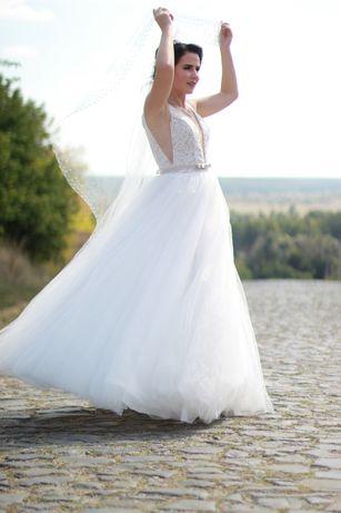 Продам платье , фату , украшения на свадьбу