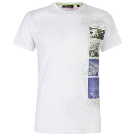 Biały t-shirt Pierre Cardin L lub XL prosto z UK