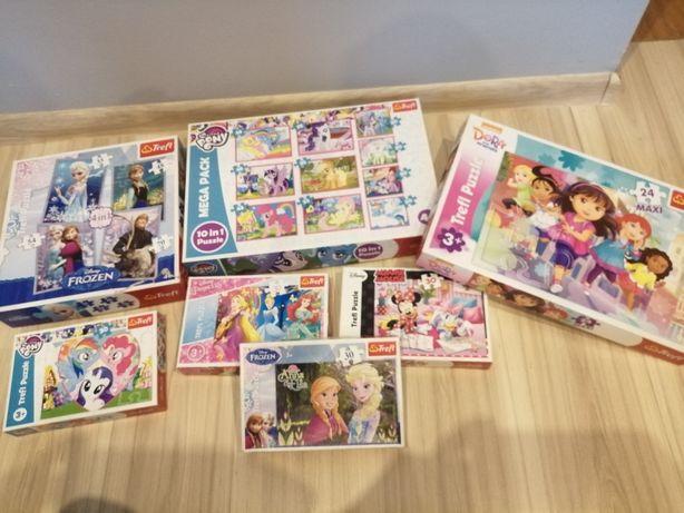Zestaw puzzli dla dziewczynki