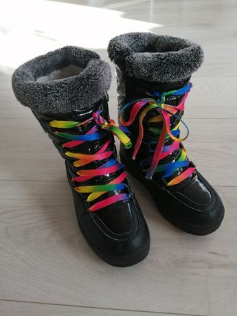 Buty śniegowce dziewczęce rozm. 32