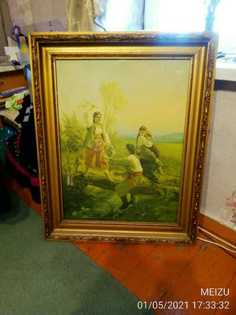 Картина Трутовского на кладке.