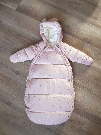 Kombinezon zimowy dla dziewczynki r62-68