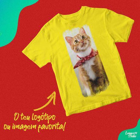 T-Shirts Personalizáveis Com O Seu Logo Ou Imagem Favorita (S-3XL)