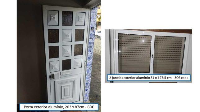 Porta e janelas exteriores, bom estado
