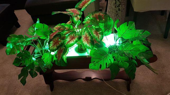 Floreira com plantas artificiais eletrificada