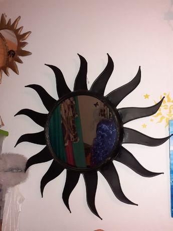 Espelho Sol em Metal 80cm Diâmetro