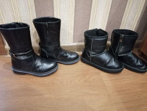 Ботинки зимние и угги для девочки 6-7 лет. Цена за 2 пары.