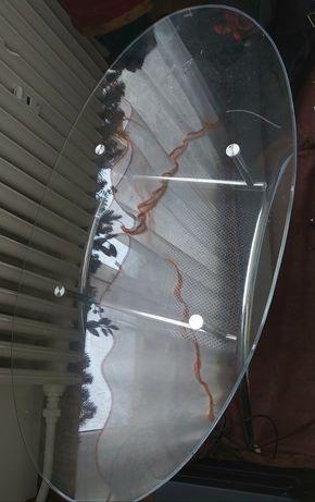 Ława szklana na nóżkach