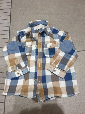 Koszula H&M 80 krata z jeansem