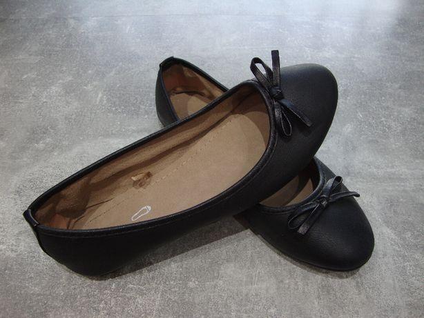 Baleriny czarne rozmiar 37 wkładka 23 cm.