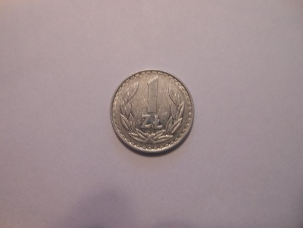 Moneta 1 zł z 1982 roku.