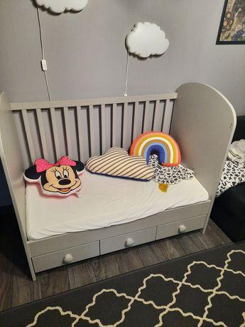 Łóżeczko Gonatt IKEA 60x120 szare materac