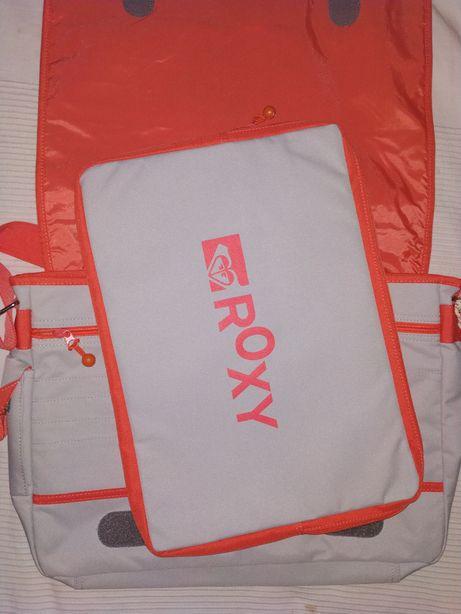 roxy quiksilver torba na laptop 2 w 1 dodatkowy pokrowiec