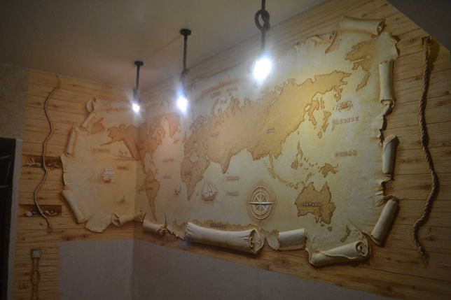 Роспись стен, Барельефы, Живопись в интерьере