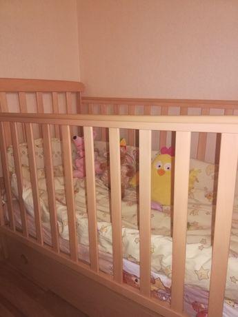 Детская кровать с матрасом, кроватка Верес