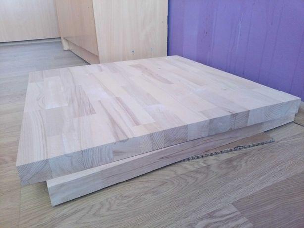 Blaty bukowe z litego drewna 60x60 cm.