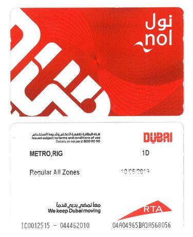 Bilet Karta przejazdowa RTA Dubaj - Emiraty Arabskie