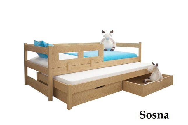 Łóżko podwójne TOMEK 200x90 z barierką GRATIS