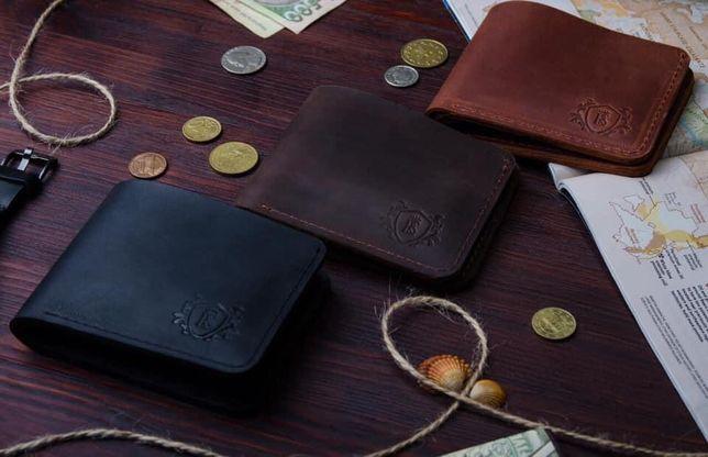 Мужской кошелек зажим для денег,натуральная кожа.Ручная работа