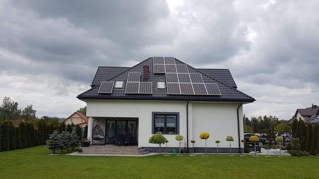 Instalacja fotowoltaiczna panele słoneczne prąd ze słońca