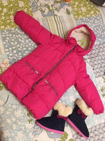 Детское пальто Next и угги на зиму