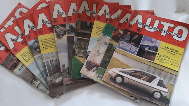 Auto Technika Motoryzacyjna - rocznik 1988 komplet