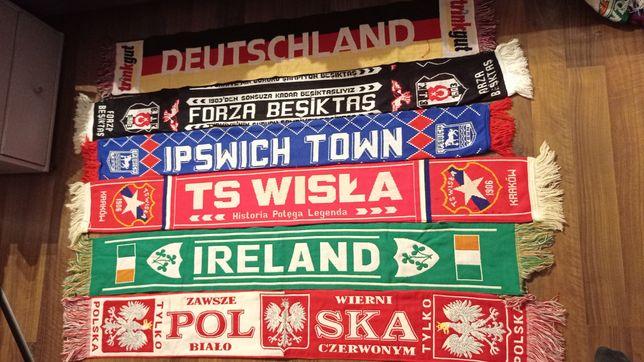 Szaliki Besiktas Deutschland Ipswich Wisła Kraków Ireland Polska
