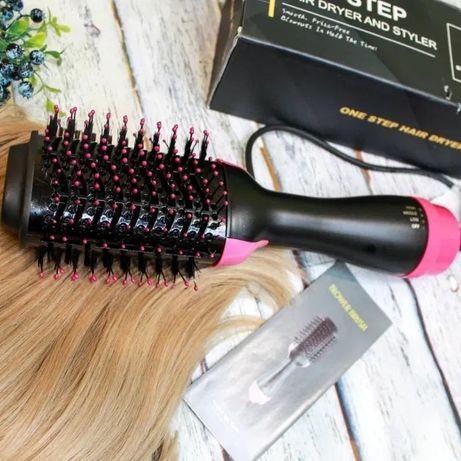 Фен- щетка для укладки волос 3 в 1 One step Hot air, ионная технология