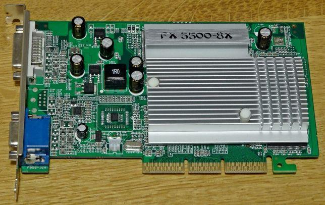 Nowa Karta Graficzna nVidia MSI GF FX 5500 AGP 256MB 128bit VGA DVI
