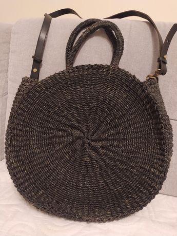 Torebka okrągła koszyk Clare V.