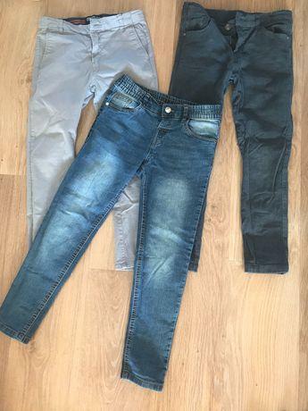 3szt. Spodnie chłopięce rozm. 140
