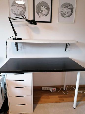 biurko IKEA czarne/białe mało używane