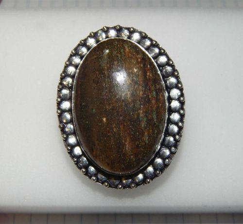 редкая яшма бронзит кольцо в подарок