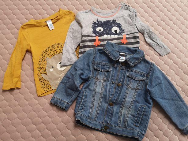 Kurtka jeansowa, katana i dwie bluzki c&a i Smyk 86