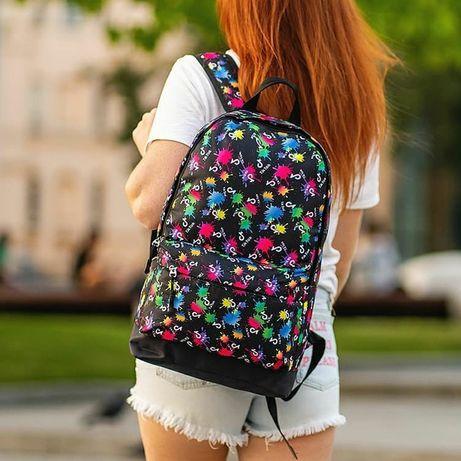 Стильный рюкзак с яркими принтами Nike Supreme Likee TikTok