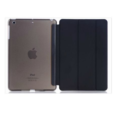 Z166 Capa Smart Cover Preta Apple Ipad Mini 1 2 3 FrenteTrás